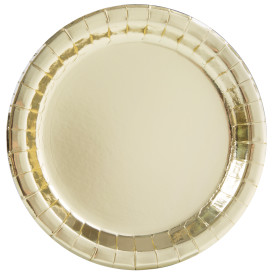 "Gold 9"" Paper Plate 8 pk"