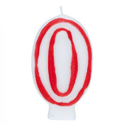"#0 Red & White 2.5"" Candle"