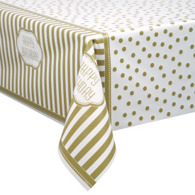 Gold Birthday Plastic Table cover