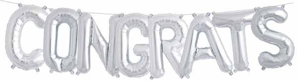 """Congrats Letters Air Fill 16"""" Mylar Balloon"""