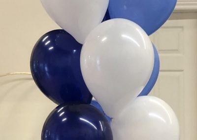 Helium pillar of 22 plain latex