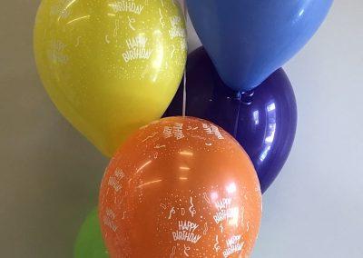 bubble balloon with 3 print latex & 3 plain latex