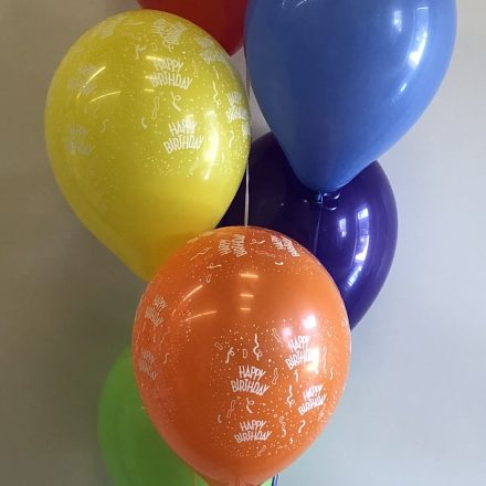 bubble balloon with 3 print latex & 3 plain latex