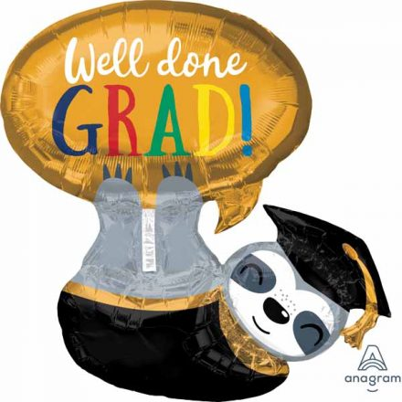 sloth super shape well done grad mylar 39402