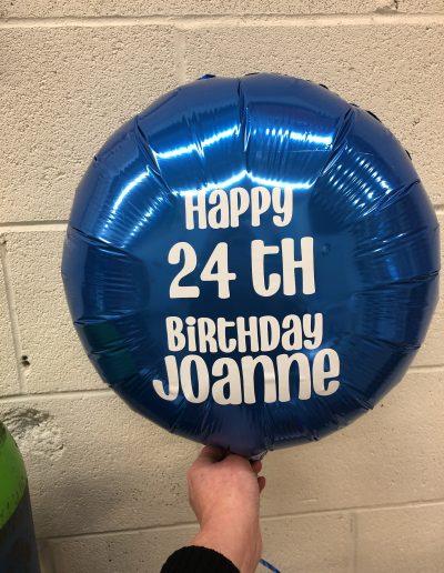 CUSTOM MYLAR BALLOON BLUE AND WHITE