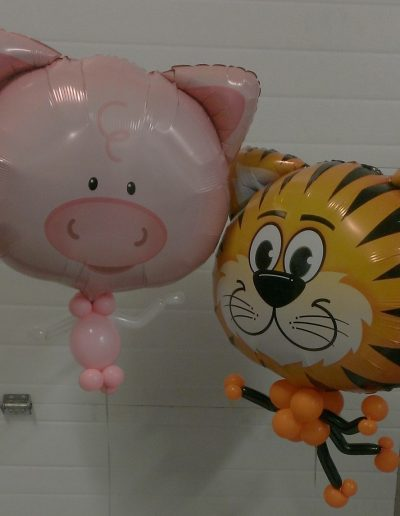 PIG AND TIGER BIG HEAD BALLOON WITH BODY