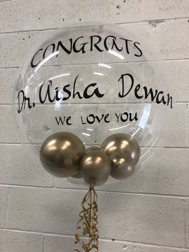 custom balloon Clear with saying and inside balloons