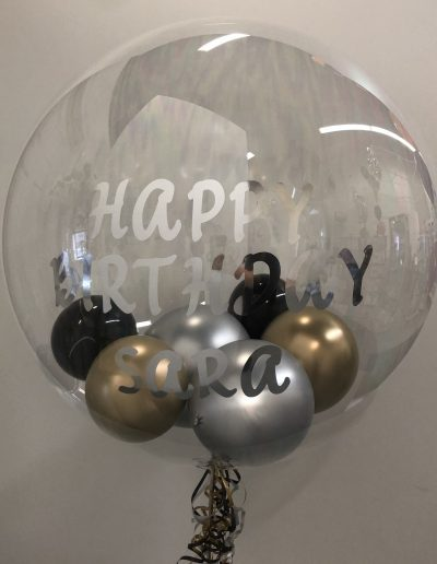 Custom clear balloon with mini's inside