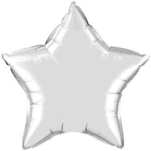 Star mylar balloon 18 inches- silver