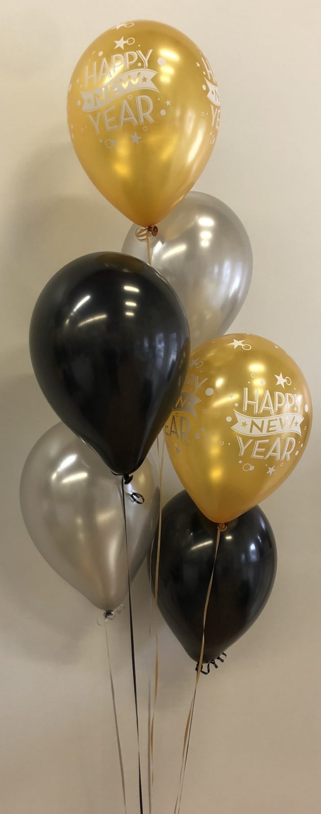 new years balloon group of 6