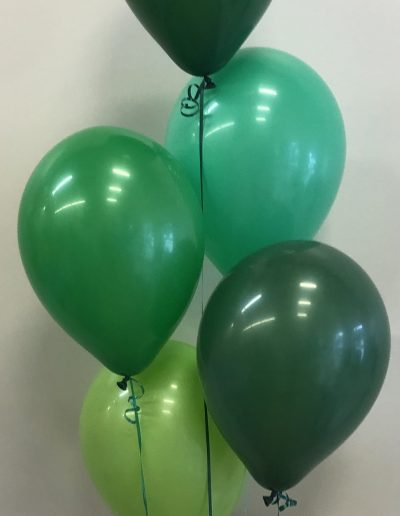 Shades of Green balloons in group of 5