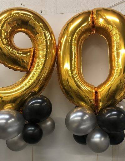 90 th balloons with collar