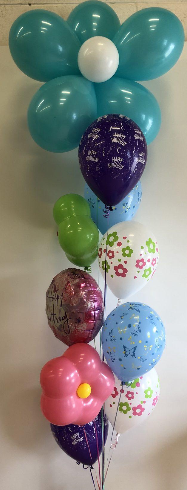 Flower balloons group of 10