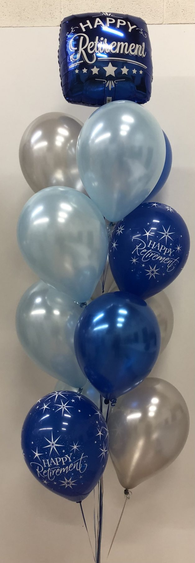 Retirement helium balloon pillar of 13