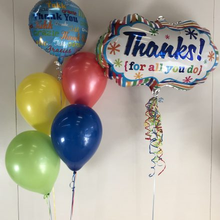 Thank you super shape balloon and group of 5
