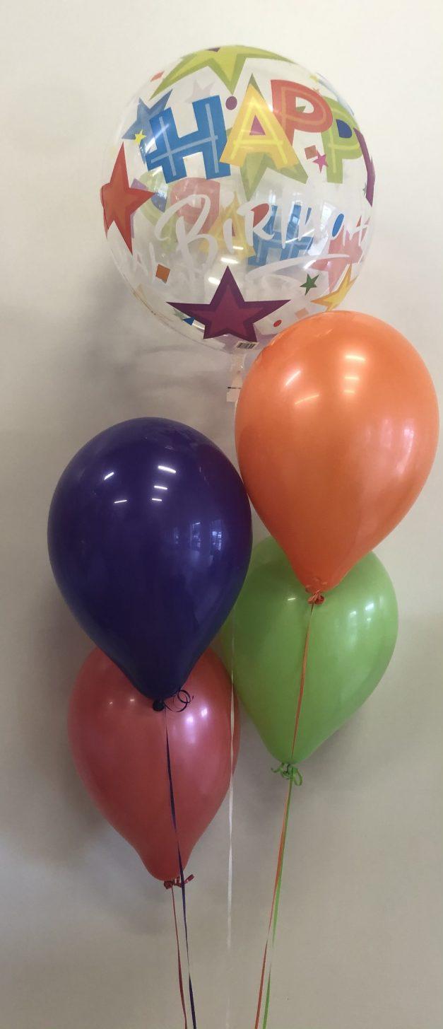 bubble balloon group of 5