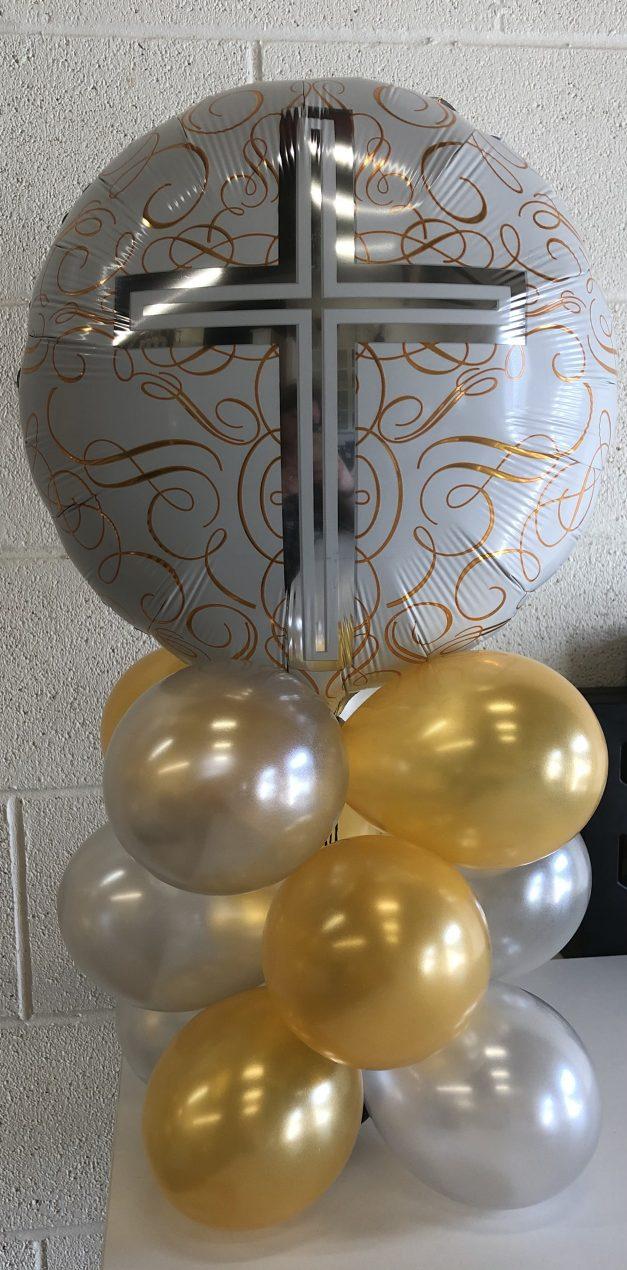 cross balloon table top centre piece