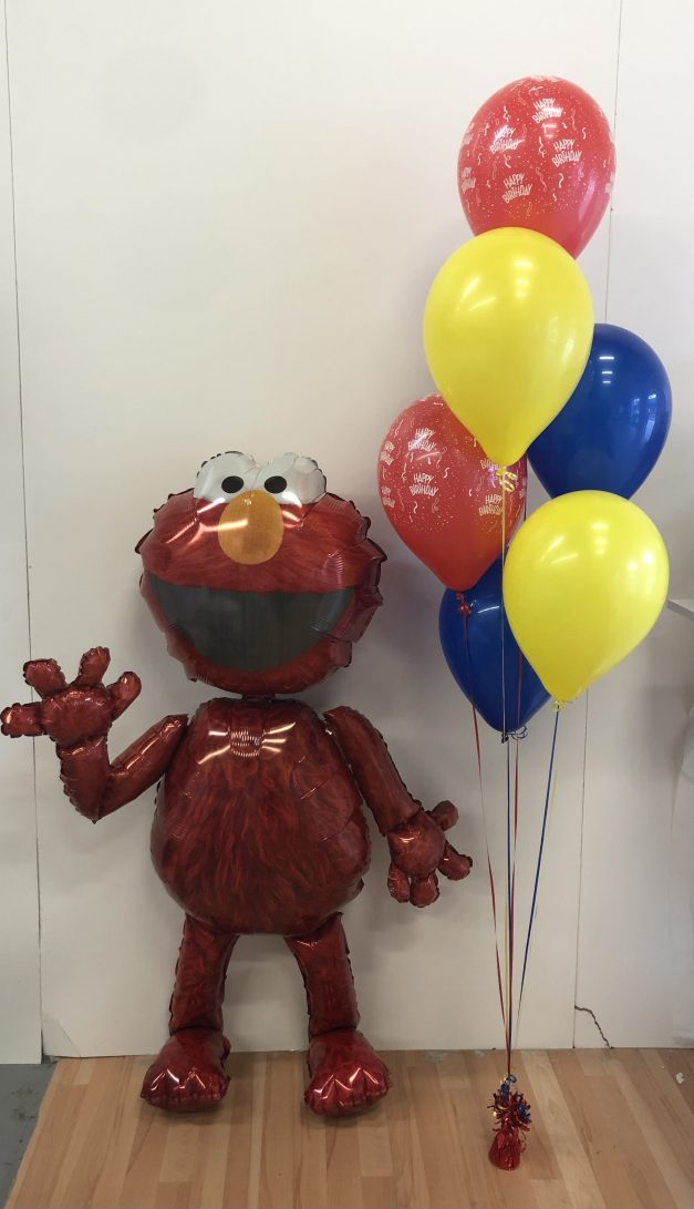 elmo balloon air walker with group of 6