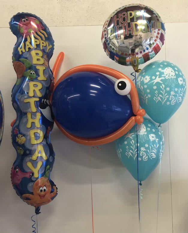 fish theme balloon display