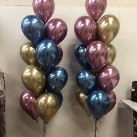 helium balloon pillar of 13 chrome latex
