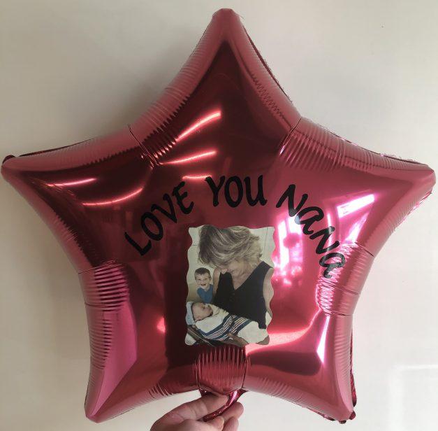 custom mylar balloon with photo