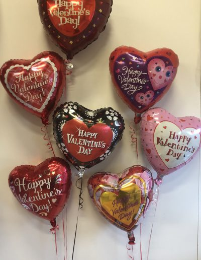 Valentines mylar balloons with wording