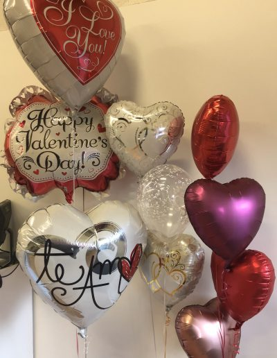 Valentines heart mylar balloons