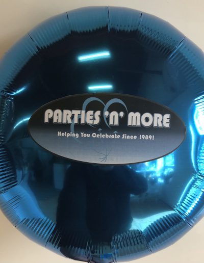 Custom mylar balloon with logo
