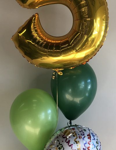 number balloon with corporate colours