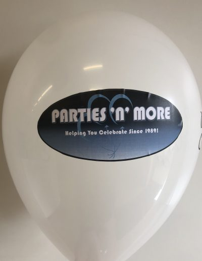 custom latex balloon with logo